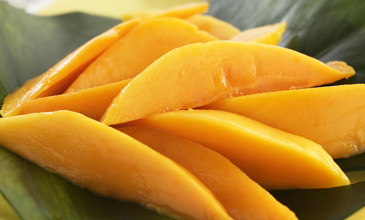 Sliced Mangoes