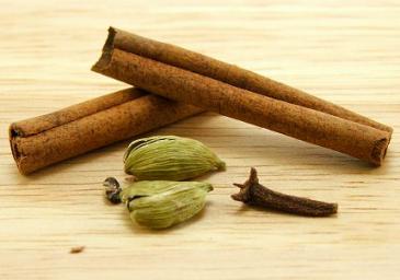 Cinnamon, cloves, cardamom